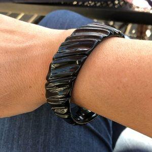 Vintage black lucite bangle